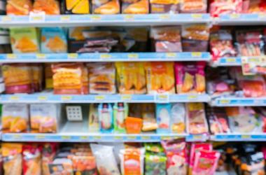 snacks on shelves