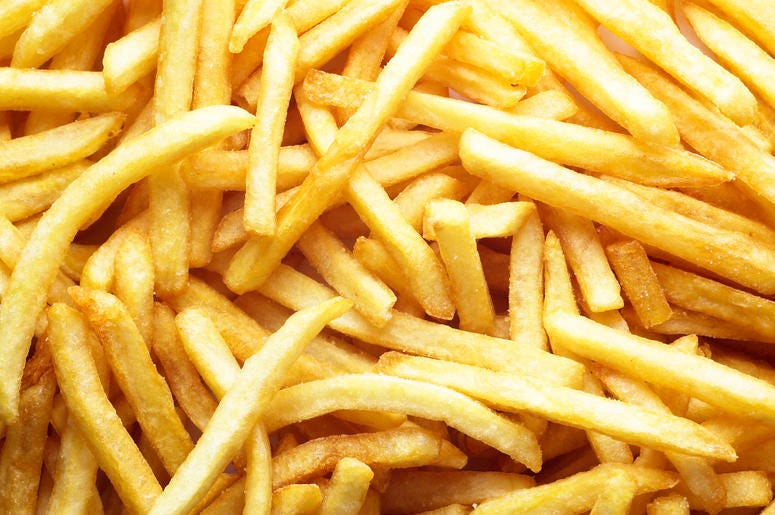 French Fries warmed up