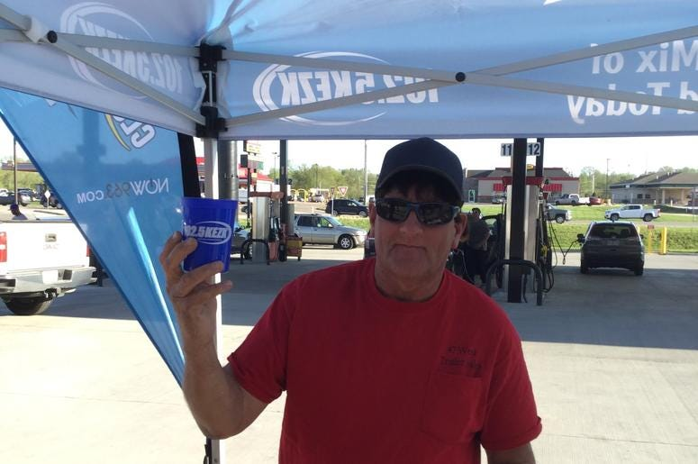 Greg Hewitt at Casey's General Store Grand Opening