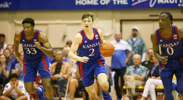 No. 4 Kansas cruises over Chaminade 93-63 in Maui