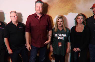 Blake Shelton with Southern California Radio Personalities