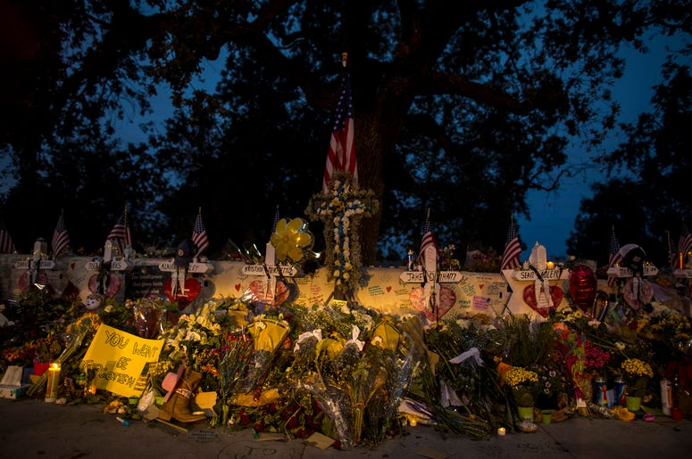 Vigil site for Borderline Bar and Grill shooting