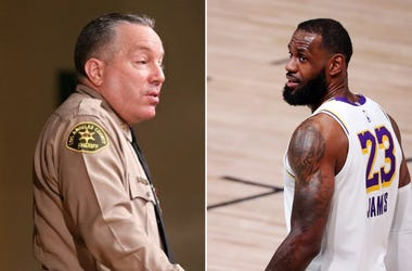 Sheriff Alex Villanueva and LeBron James