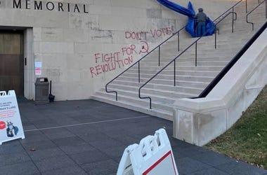 WWI museum voter graffiti