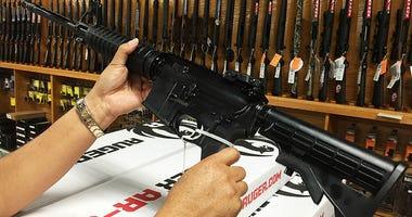 AR-15 semi-automatic rifle