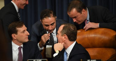 Adam Schiff Confers at Impeachment