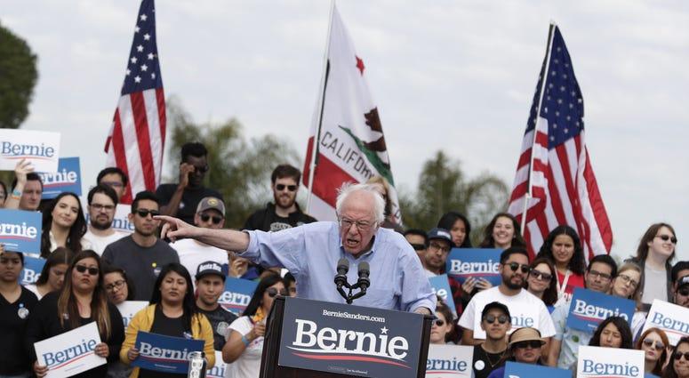 Bernie Sanders Rally Cali