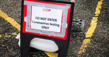Coronavirus testing sign