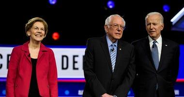 Dem Debate SC Warren, Sanders, Biden