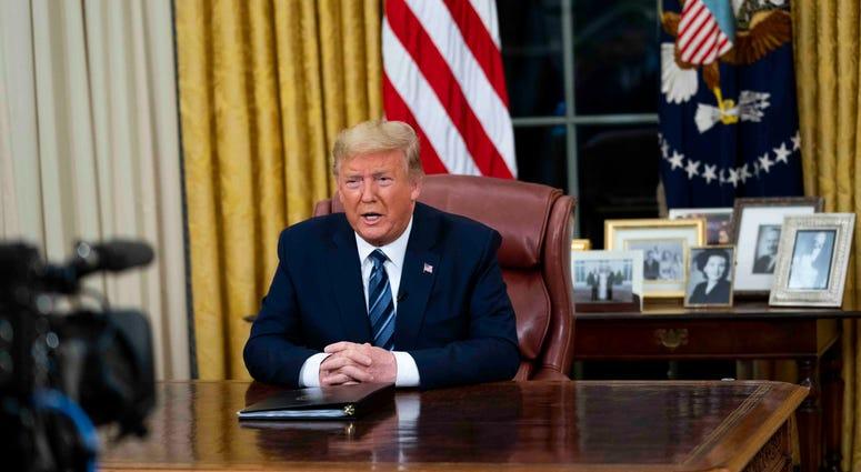 Donald Trump Oval Office Covid-19 speech