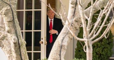 Trump leaves West Wing