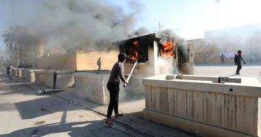 Embassy Fire Iraq