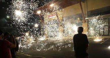 George Floyd Protest Fireworks