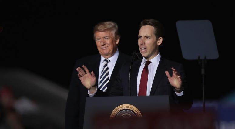 Josh Hawley and President Trump