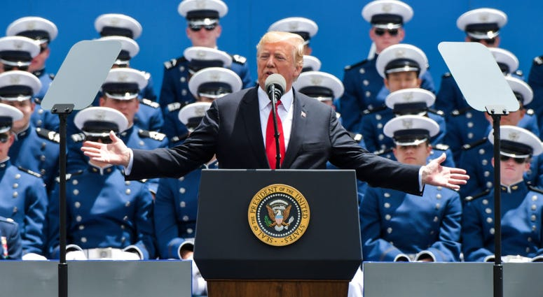President Trump at Air Force Academy
