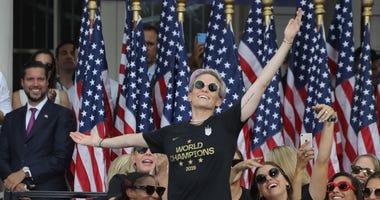Megan Rapinoe US Women's National Soccer team World Championship parade