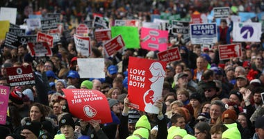 President Trump speaks at the March for Life rally in Washington DC