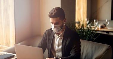 work, coronavirus, mask