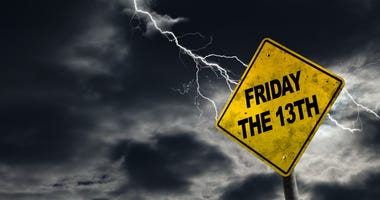 Spooky friday the 13th sign