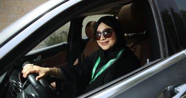 driver wearing hijab