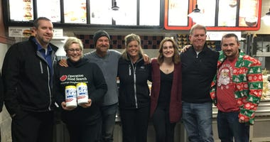DGS Food Drive Finale at Hardee's