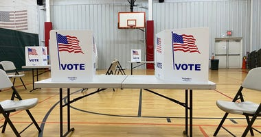 Polling Place in Gym © Laura PetersThe News Leader via Imagn Content Services, LLC.jpg