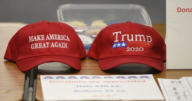 Trump Hats © Zach Dwyer, zdwyer@stcloudtimes.com, SCTimes via Imagn Content Services, LLC.jpg