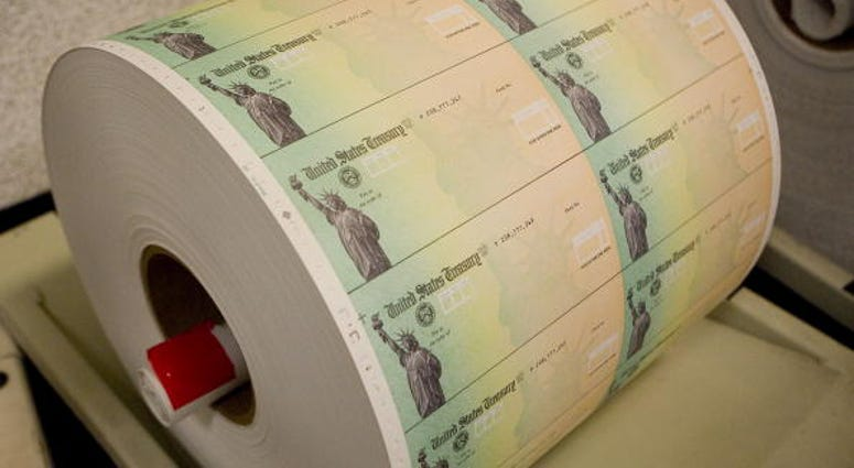 US Treasury Blank Check Roll