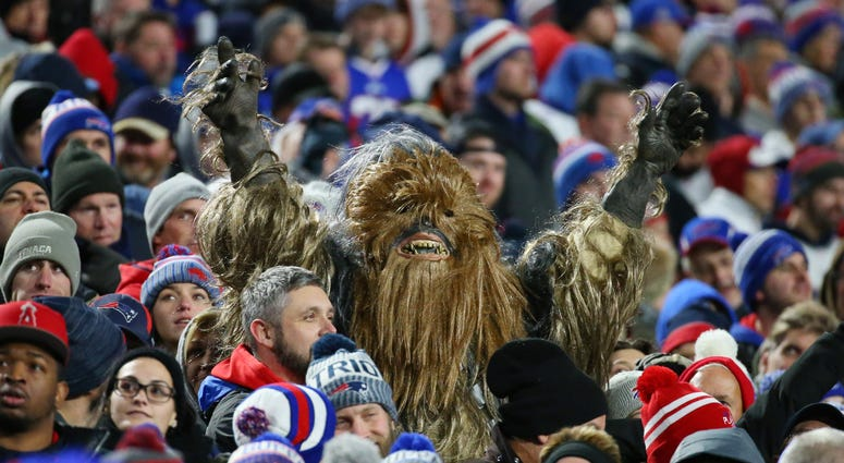 Buffalo Bills fans during Monday Night Football game against Patriots.