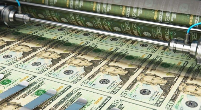 printing 20 dollar bills