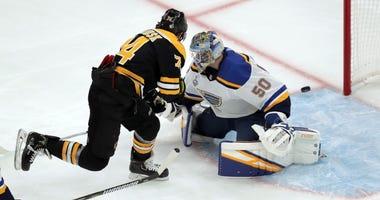 St. Louis Blues versus Boston Bruins Game 1 Stanley Cup Playoffs