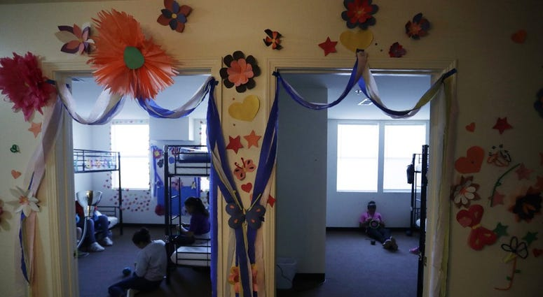 U.S. government's newest holding center for migrant children in Carrizo Springs, Texas