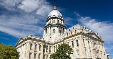 Illinois capital in Springfield