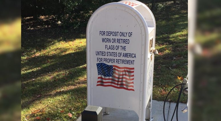 Depository for worn flags in south St. Louis County.
