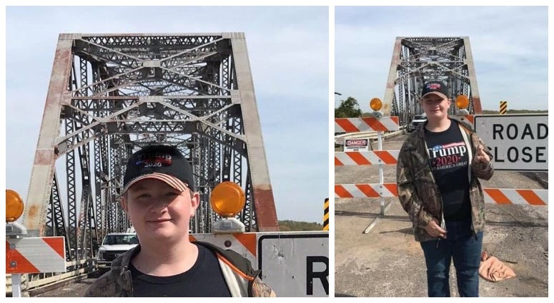 MoDOT photo edit of Trump shirt