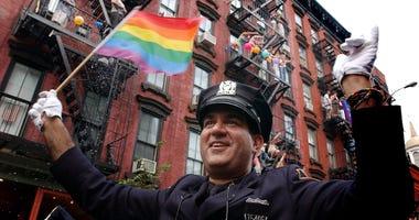 police in pride parade