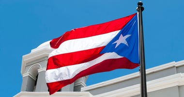 Puerto Rico flag in San Juan