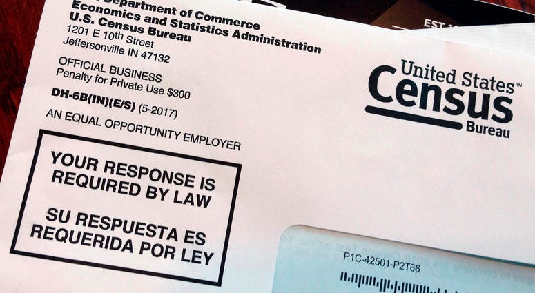 U.S. census in mail