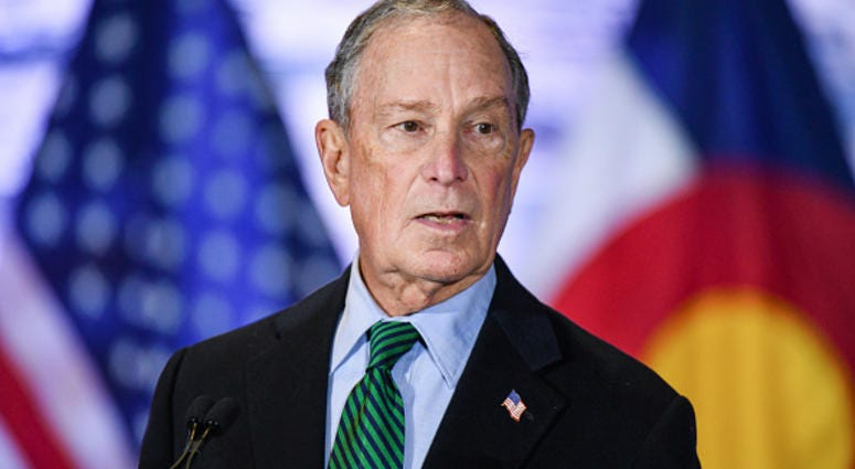 Picutre of Bloomberg at press event