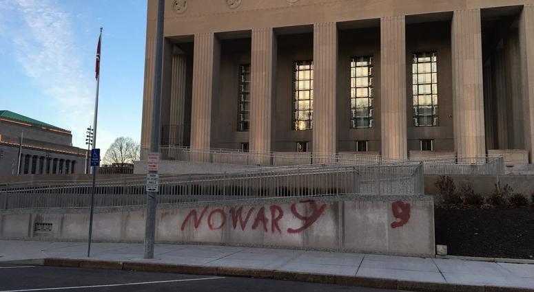 Soldiers Memorial vandalism