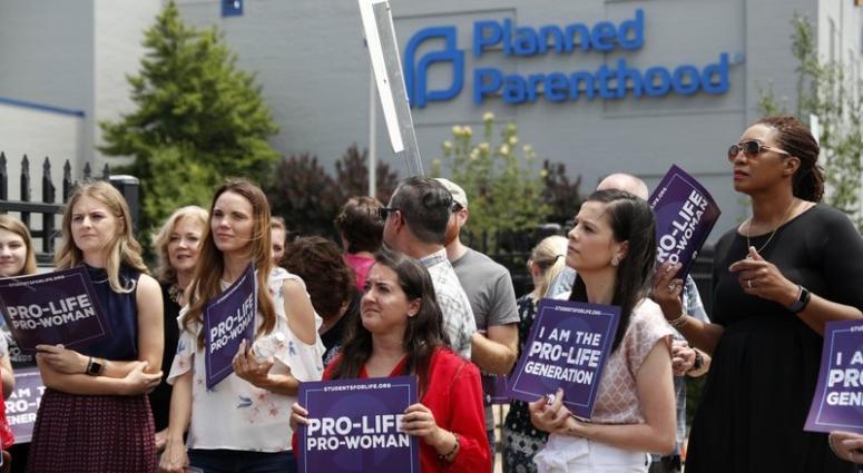 Planned Parenthood prolife protestors