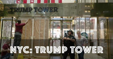 Annie and Katie visit Trump Tower in New York City