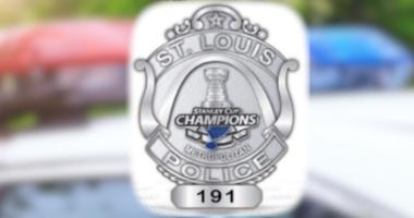St. Louis Blues Stanley Cup Champions police badge