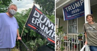 trump, flags, neighbors