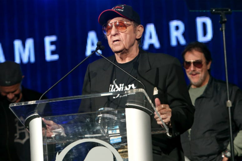 Drummer Hal Blaine attends the NAMM Tec Awards at the Anaheim Hilton on January 24, 2014