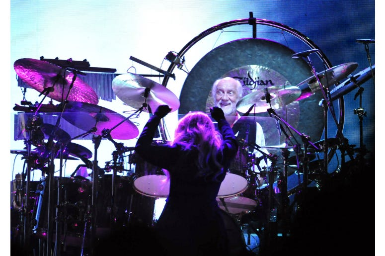 Stevie Nicks and Mick Fleetwood perform at Bridgestone Arena.