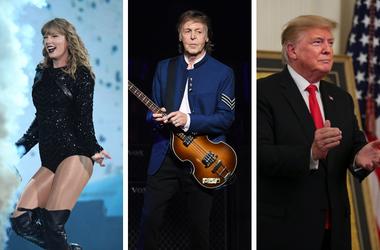 Taylor Swift, Paul McCartney, and Donald Trump