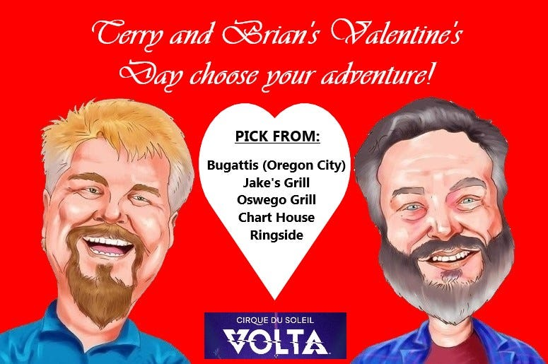 Terry and Brian's Valentine's Day Choose Your Adventure!