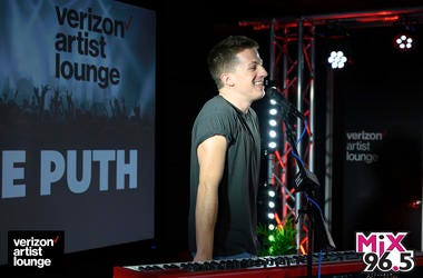 Charlie Puth in the Verizon Artist Lounge