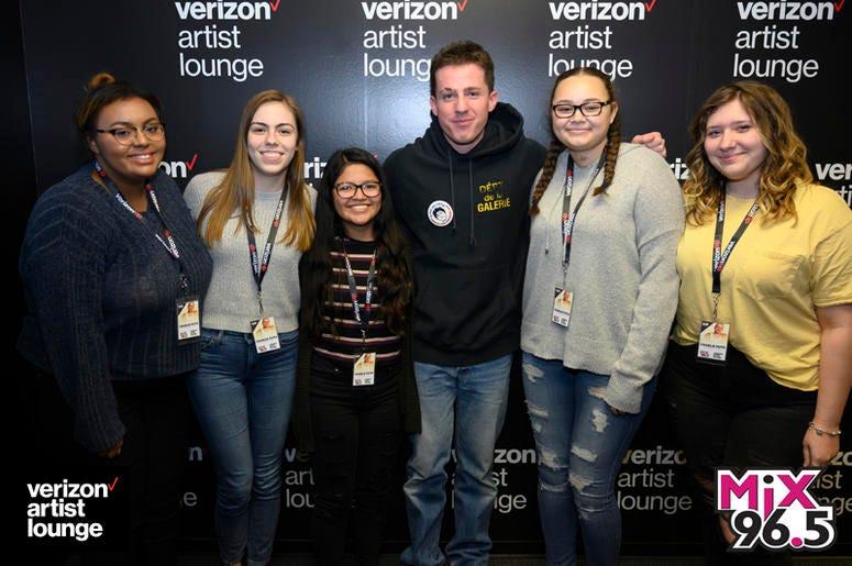 Charlie Puth in the Verizon Artist Lounge